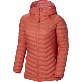 Columbia Powder Lite Light Hooded Jacket Women Red Coral